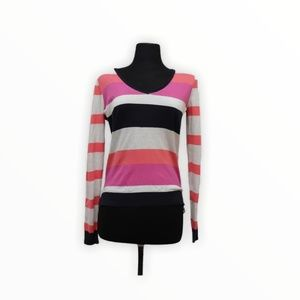 JCP: Striped Long Sleeve Top